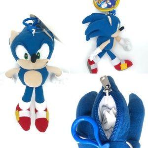 "Sonic the Hedgehog 8"" soft toy plush keychain Sega"